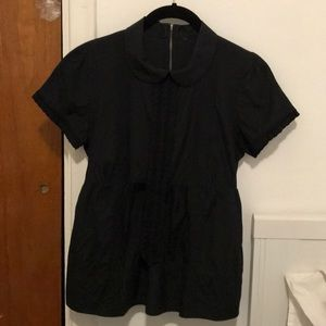 See by Chloe silk blouse w Peter Pan collar